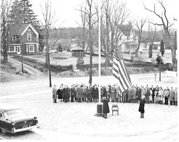 1955: 1st Flag Raising (Bldg. 50)