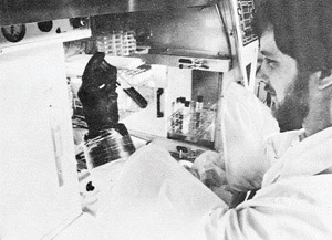 1981: Working Inside Anaerobic Fermentation Chamber