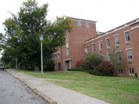 Buildings 38, looking northeast