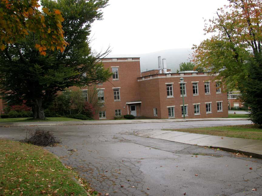 Buildings 40, looking southeast; Building 39 is to the right